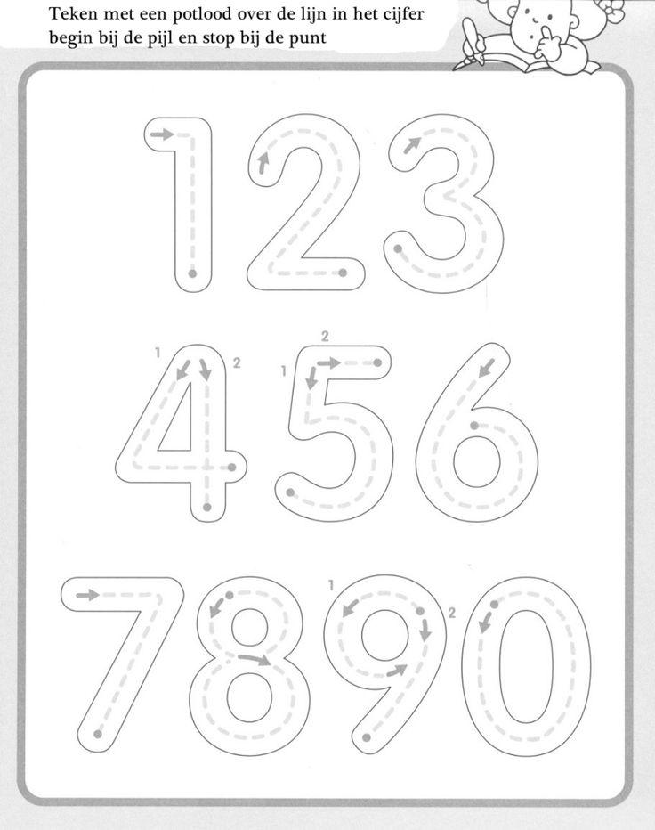 getallen schrijfblad