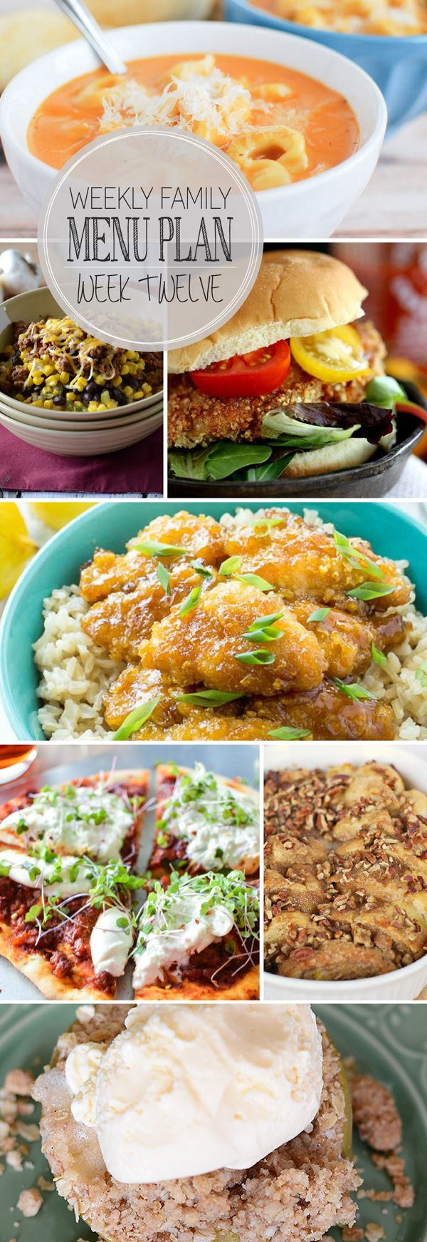 Weekly menu plan ideas! Check out all these yummy recipes