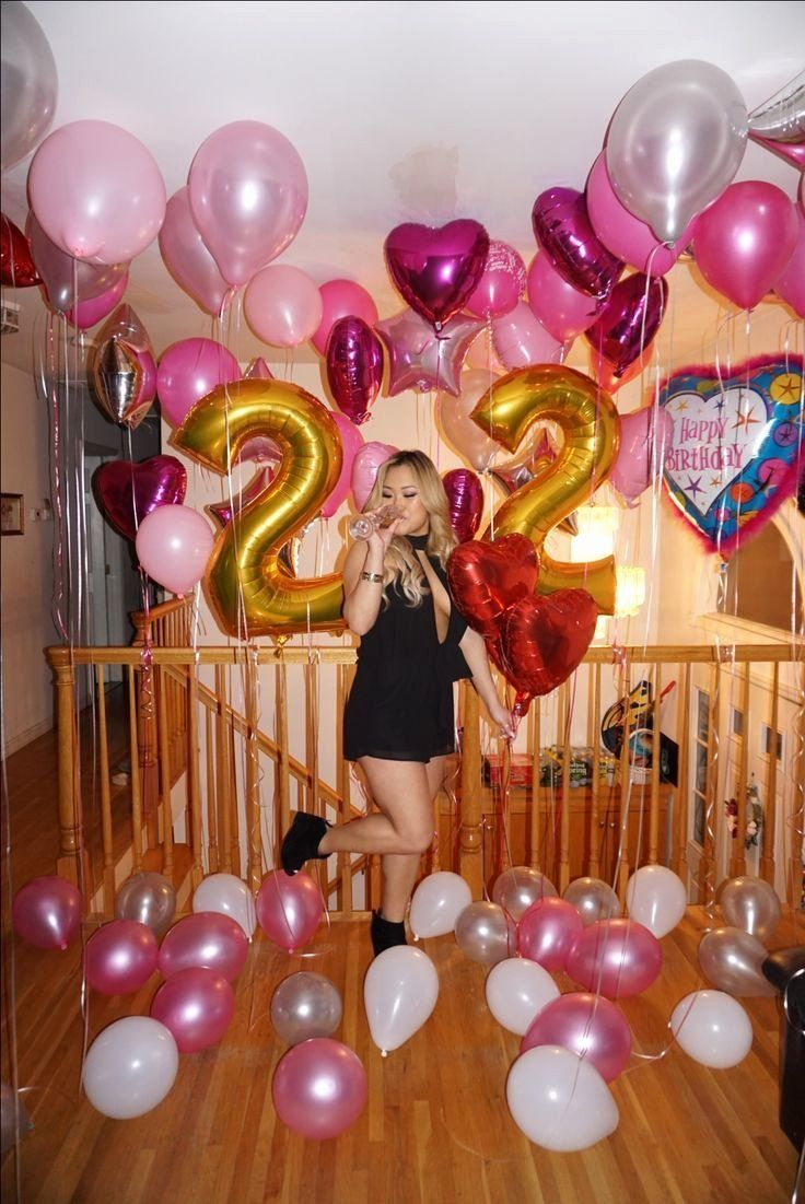 Happy 22nd Birthday Images New 50 22nd Birthday Party Ideas For Her 22 Birthday Decorations Number Balloons Birthday Birthday Ideas For Her