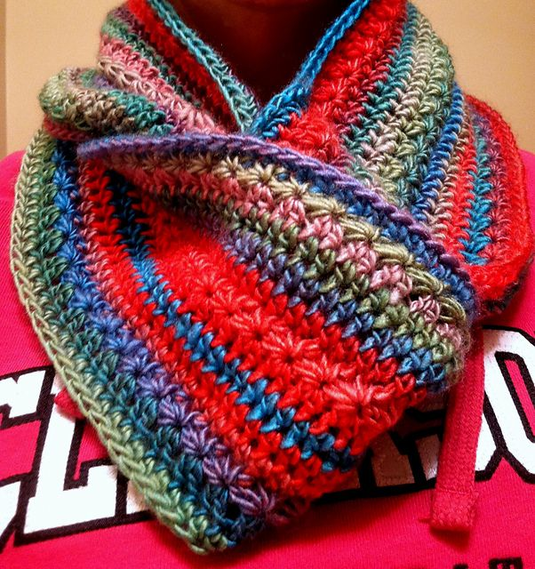Free Irish Knitting Patterns : Ravelry: Pumpkin Infinity Scarf pattern using Red Heart Boutique Unforgettabl...