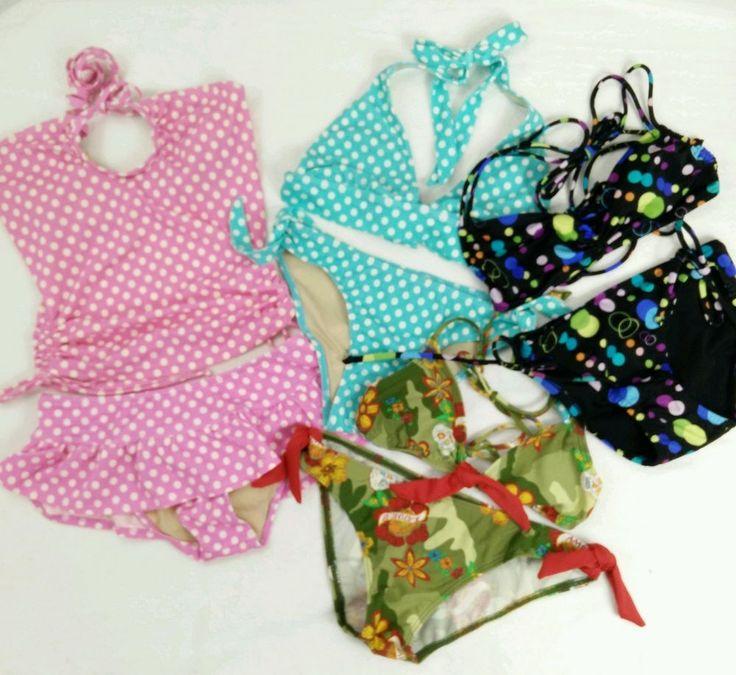Lot of 4 Bikinis Tankini Sz XS  Victorias Secret OP Alloy Skull Polka Dot Halter #VictoriasSecret #OP #Alloy #Bikini #Tankini #skulls #polkadots #halter #stringbikini #summer #vacation #beach #swimming