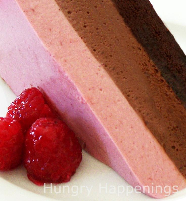 Valentine\'s Day Chocolate Raspberry Mousse Cake: Chocolates Cakes ...