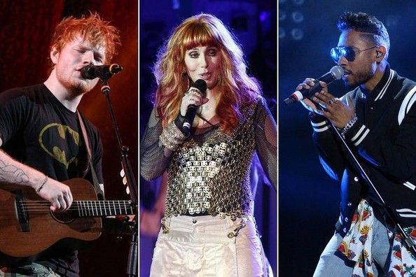 Ed Sheeran, Cher, Miguel, and Ryan Tedder