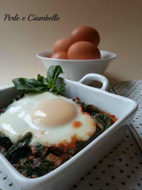 Spinaci con le uova marchigiani