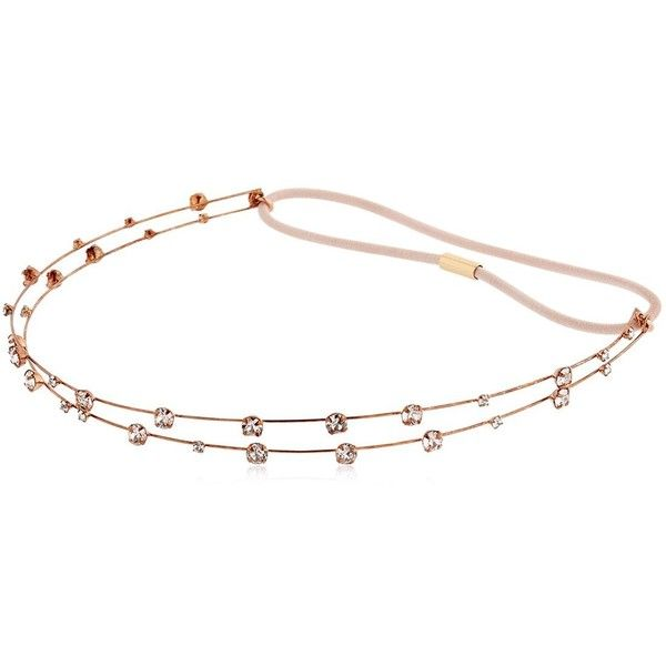 Jennifer Behr Women Lucia Swarovski Crystal Headband (1.780 BRL) ❤ liked on Polyvore featuring accessories, hair accessories, pink, headband hair accessories, head wrap hair accessories, swarovski crystal headband, hair band headband and jennifer behr hair accessories
