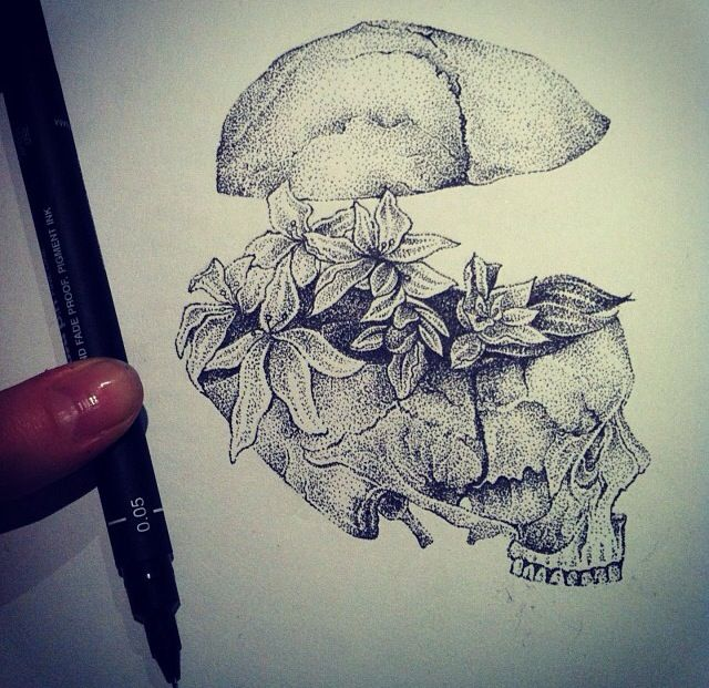 """Amazing """"doodle"""" by the tattoo artist Hannah snowdon,"""