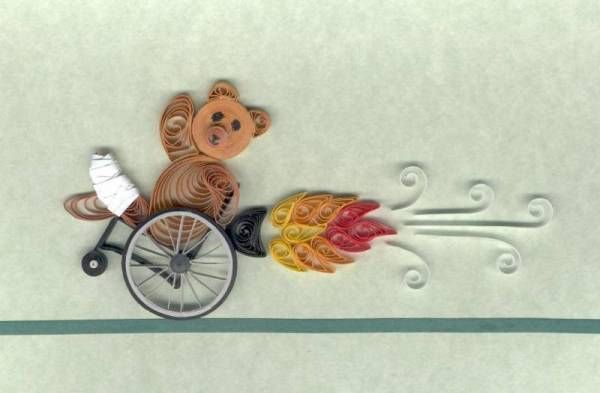 Don't let your ankle slow you down - Quilled Creations Quilling Gallery