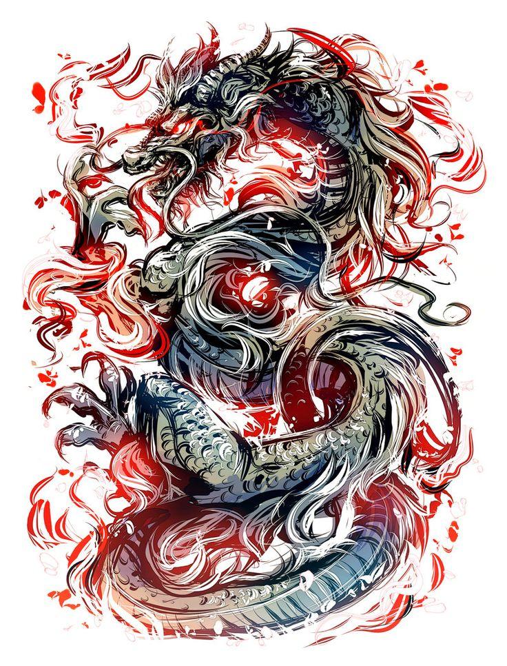 Dragon by Kawiku.deviantart.com on @DeviantArt