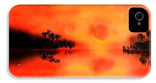Joy Of The Sun IPhone 4 / 4s Case Printed with Fine Art spray painting image Joy Of The Sun by Nandor Molnar (When you visit the Shop, change the orientation, background color and image size as you wish)