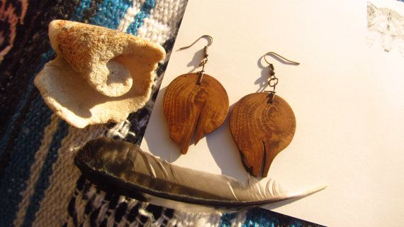 Dark Circle Forest Earrings by FeralRoots on Etsy