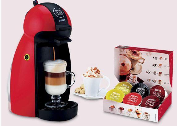 Cafeteira Piccolo DP06 - 15 Bar - Dolce Gusto com caixa de cápsulas e café