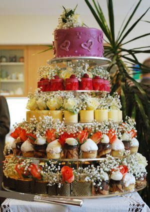 Our fabulous Petit Fours Celebration Cake is a popular option with many of our clients