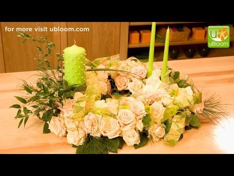 How to create an All Rose Casket Spray - YouTube