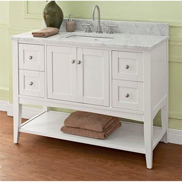 "Fairmont Designs Shaker Americana 48"" Vanity - Open Shelf for 1-1/4"" Thick Top - Polar White"
