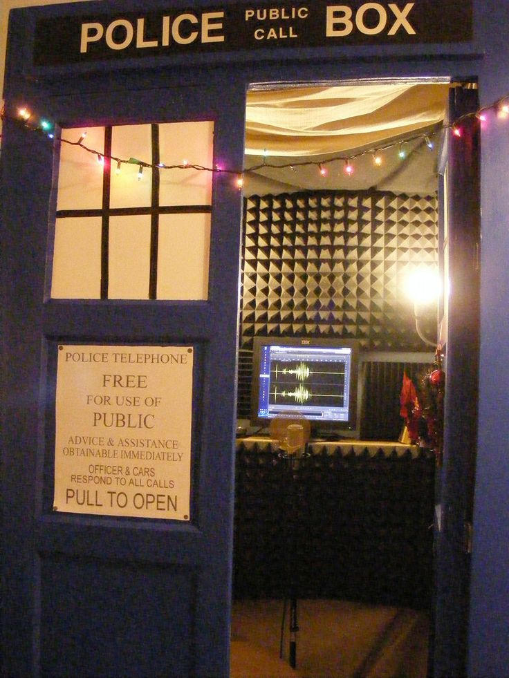 A popular theme. Tardis Sound Booth by WinterRoseASFR.deviantart.com on @deviantART