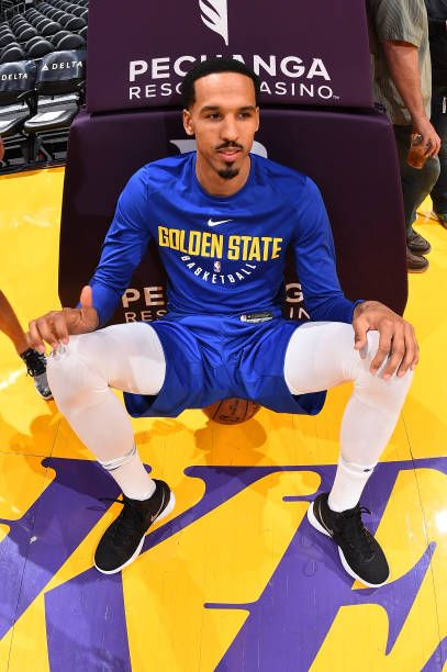 Shaun Livingston of the Golden State Warriors sits on an Official NBA Spalding Basketball before the game against the Los Angeles Lakers on November...
