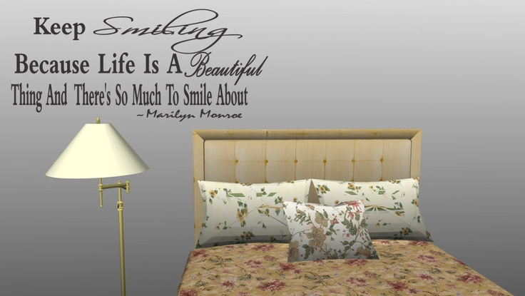 """""""Keep Smiling Because Life Is.."""" Vinyl Wall Quote by walldecalquotes, $15.99"""