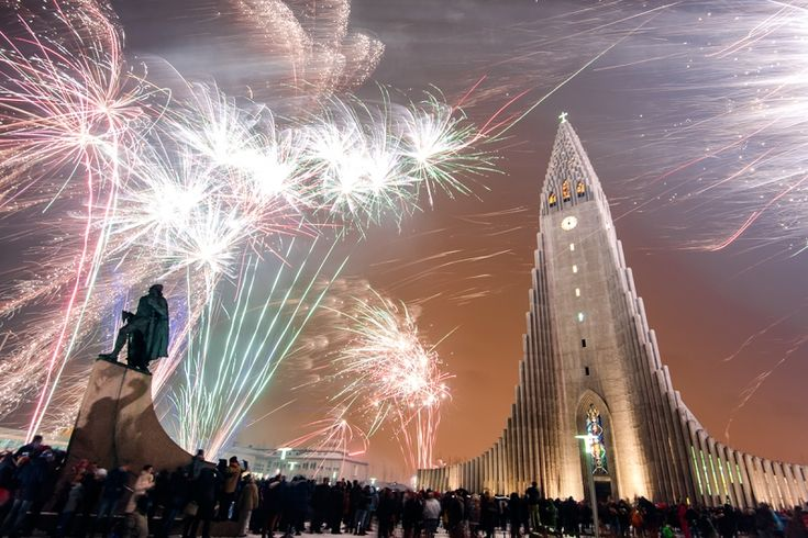 New years eve is a bit crazy in Iceland. Many decades ago Icelanders developed a tradition that has become a sensation. Everyone everywhere in the whole country byes fireworks and shoots them up at th