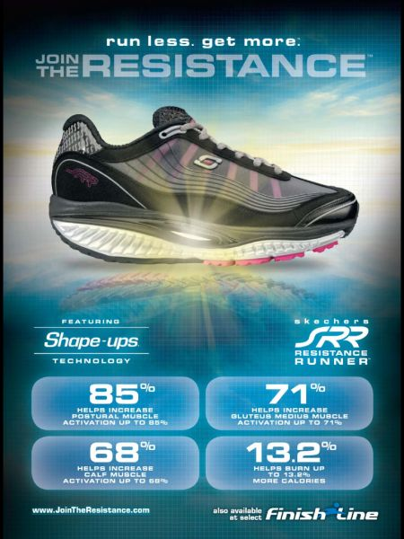 Sketchers Shape-Ups Runners. Don't feel the difference, but the padding is great!