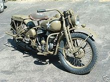 Harley-Davidson 1940's military model - Mostly-restored WLA originally sent to Russia