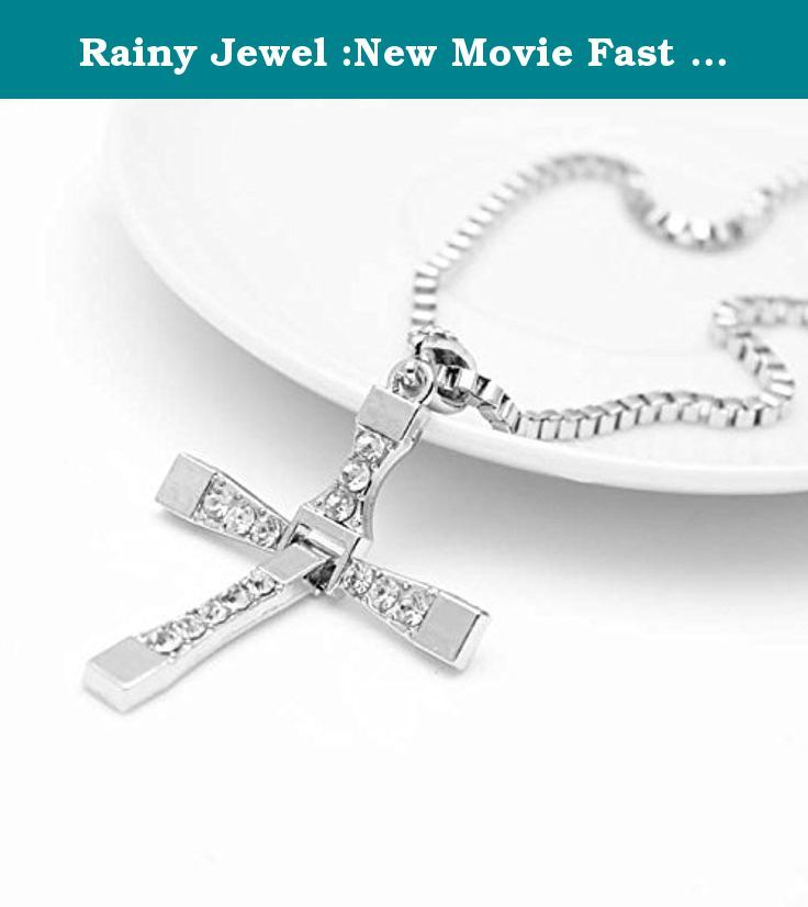 Rainy Jewel :New Movie Fast and The Furious 7 Dominic Toretto Vin Diesel Classic Male Rhinestone Cross Pendant Necklace. Rainy Jewel :New Movie Fast and The Furious 7 Dominic Toretto Vin Diesel Classic Male Rhinestone Cross Pendant Necklace.