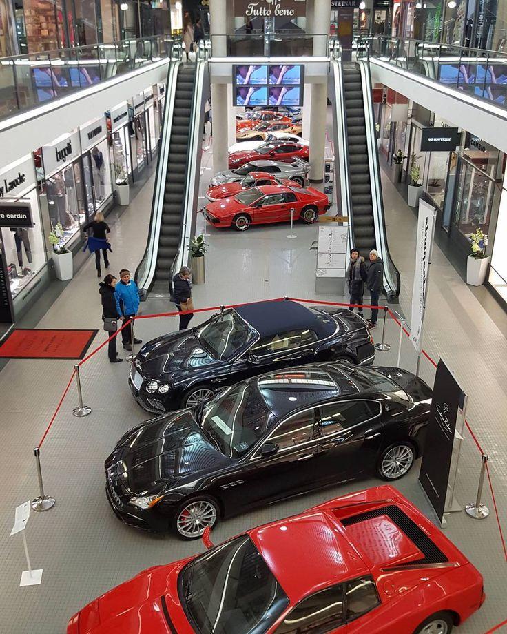 Car Exhibition in the Černá Růže Passage Prague  #prague #travel #passage #cernaruze #car #show #exhibition #oldcar #interior #galaxys6 #ferrari #lotus #maserati #caterham #bentley #skoda