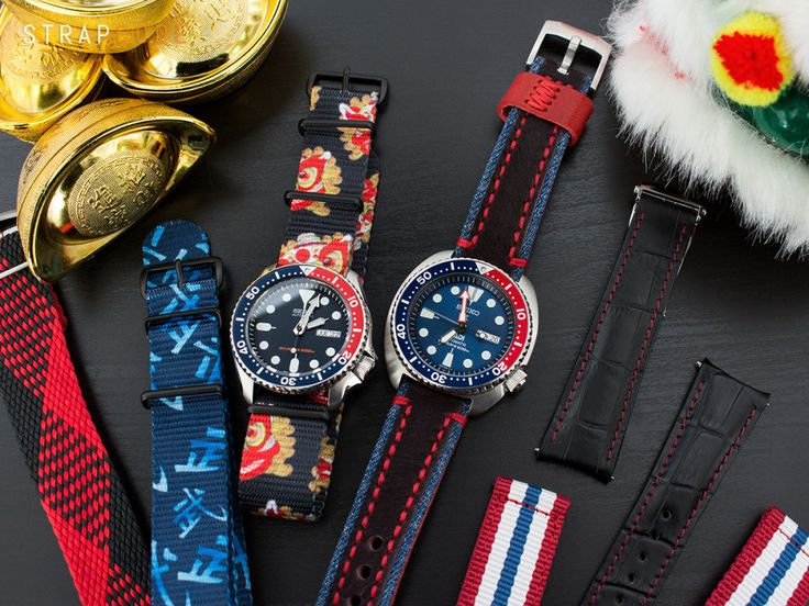 Chinese New Year vibes with Seiko PADI SRPA21 and Seiko SKX009  Head over to our Wordpress blog to see more: Strapcode.wordpress.com  #MiLTAT #Strapcode