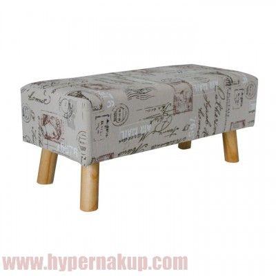 Moderná lavica, taburetka s látkovým poťahom s modernou potlačou. Taburetka vhodná do obývacích izeib, predsiení, detských študentských izieb. Prijateľná cena doprava do domu.  prevedenie: látka s potlačou + drevo natural,  rozmery: ŠxHxV 78x35x35 cm.  Hmotnosť: 3 kg  Taburetka, látka s potlačou, MELODY | HYPERNAKUP.COM | PREDAJ