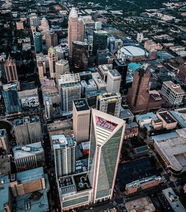 Gorgeous Aerial View Of The Queen City Captured By Alexandersouthnc What Views Are You Looking At On This Saturday Night Aerial View Travel Aerial