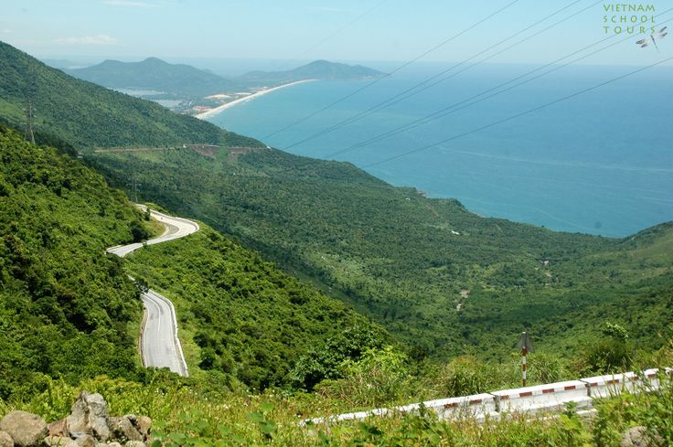 View from Hai Van pass to Lang Co beach in Hue