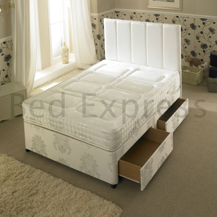 4ft Small Double 3000 Pocket Spring Quilted Memory Foam Divan Bed Mattress