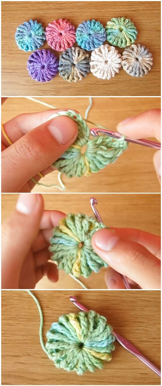 Crochet Puff Flowers Blanket