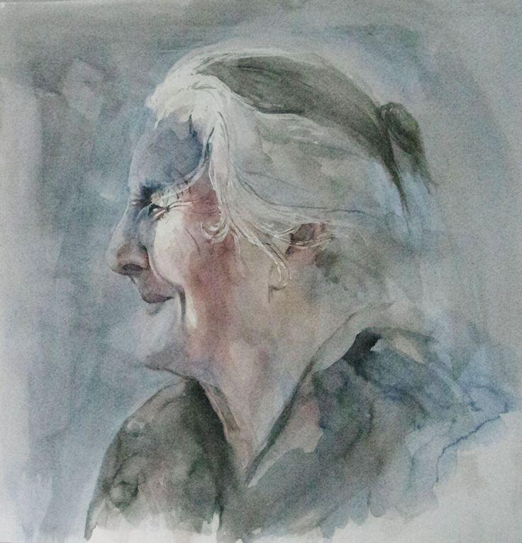 akwarela, watercolor, aquarel, women portrait