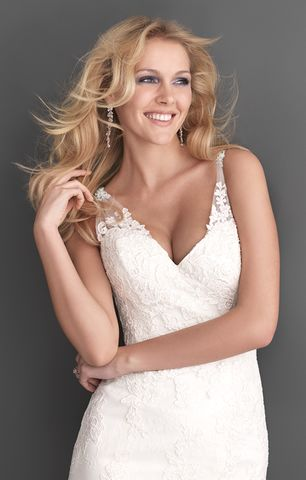 Allure Style 2606 Ivory Lace Wedding Gown