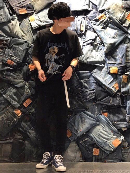 大きめサイズのTシャツを選んで タックインスタイル😊 ガチャベルトはGUのレディースアイテムです!