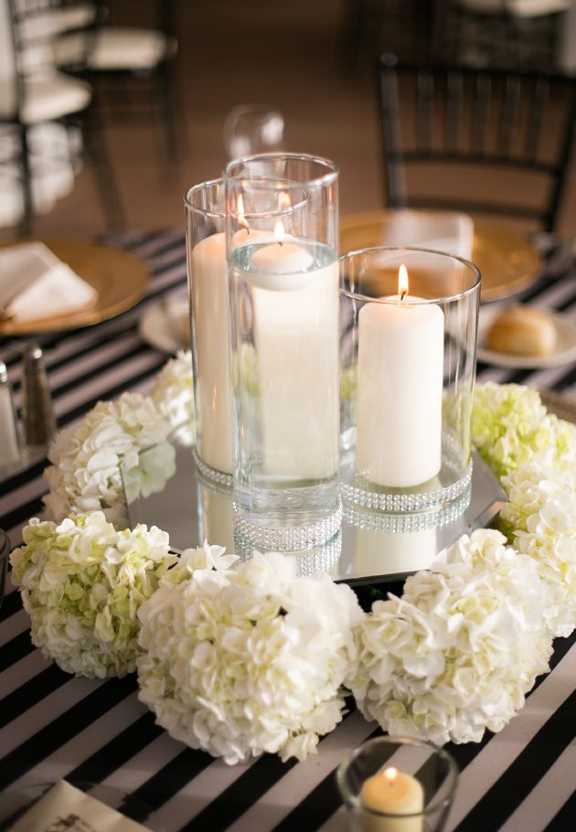 17 best images about hydrangea weddings on pinterest for Candles for wedding tables decoration