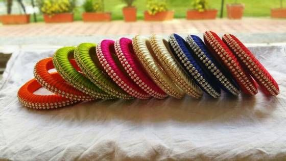 Shopo.in : Buy Silk Thread Bangles online at best price in Chennai, India