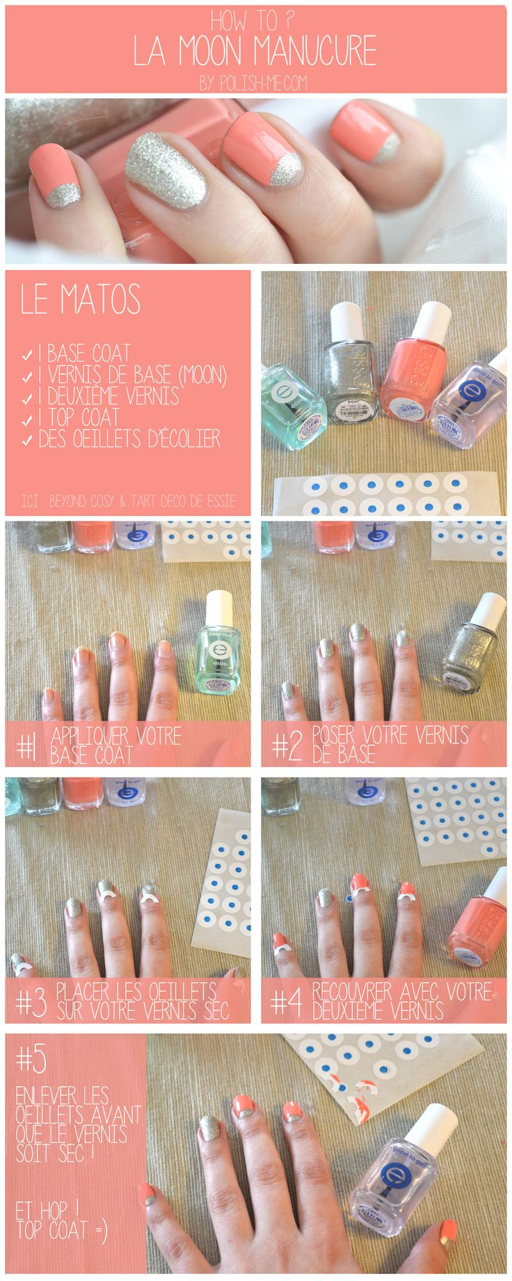 Tutoriel Nail Art - Moon Manucure