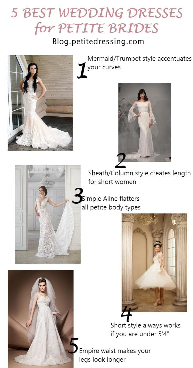 Petite Wedding Dresses: Top 6 Choices for Short Brides  Wedding