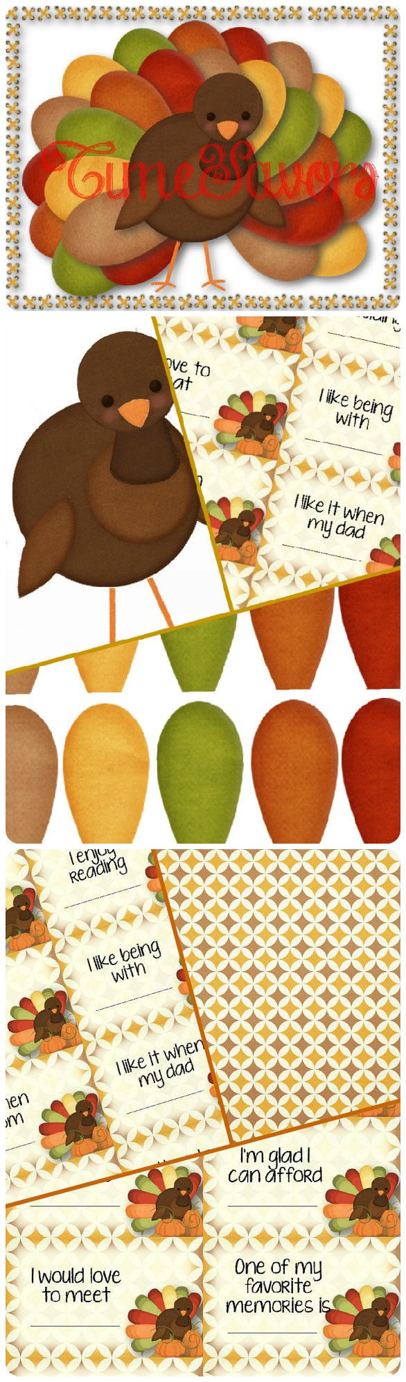 Turkey Advent Calendar with Thankful Prompt Cards - INSTANT DOWNLOAD Countdown to Thanksgiving with this fun printable turkey! Purchase includes a blank sheet with 30 colorful feathers, a turkey, example turkey page and 30 thankful prompt cards with a design page for the backs. Each day, say something you are grateful for as you add feathers to your turkey. Use the included prompt cards to stimulate ideas and dinner conversations. Happy Thanksgiving!