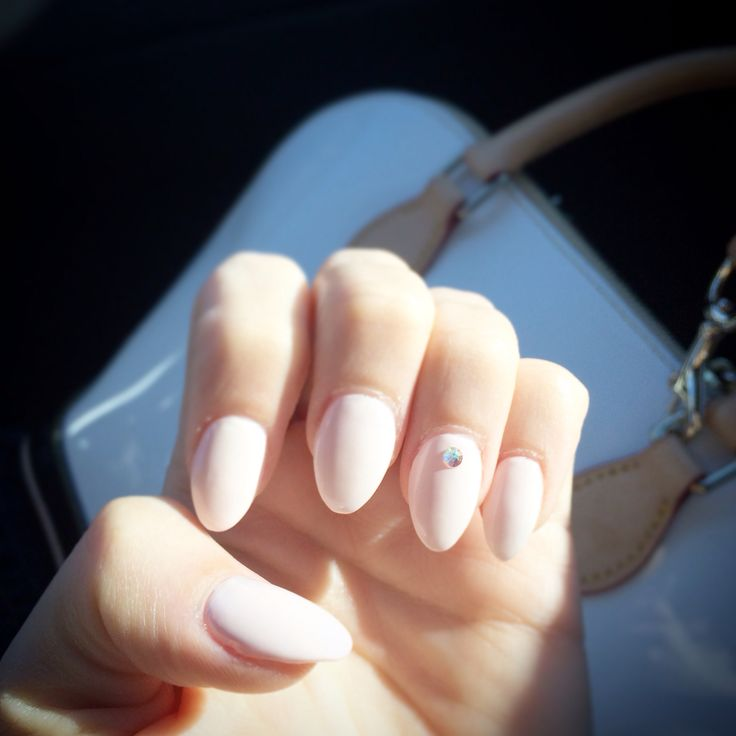 My almond nails in a pretty light pink | Pretty Nails ...