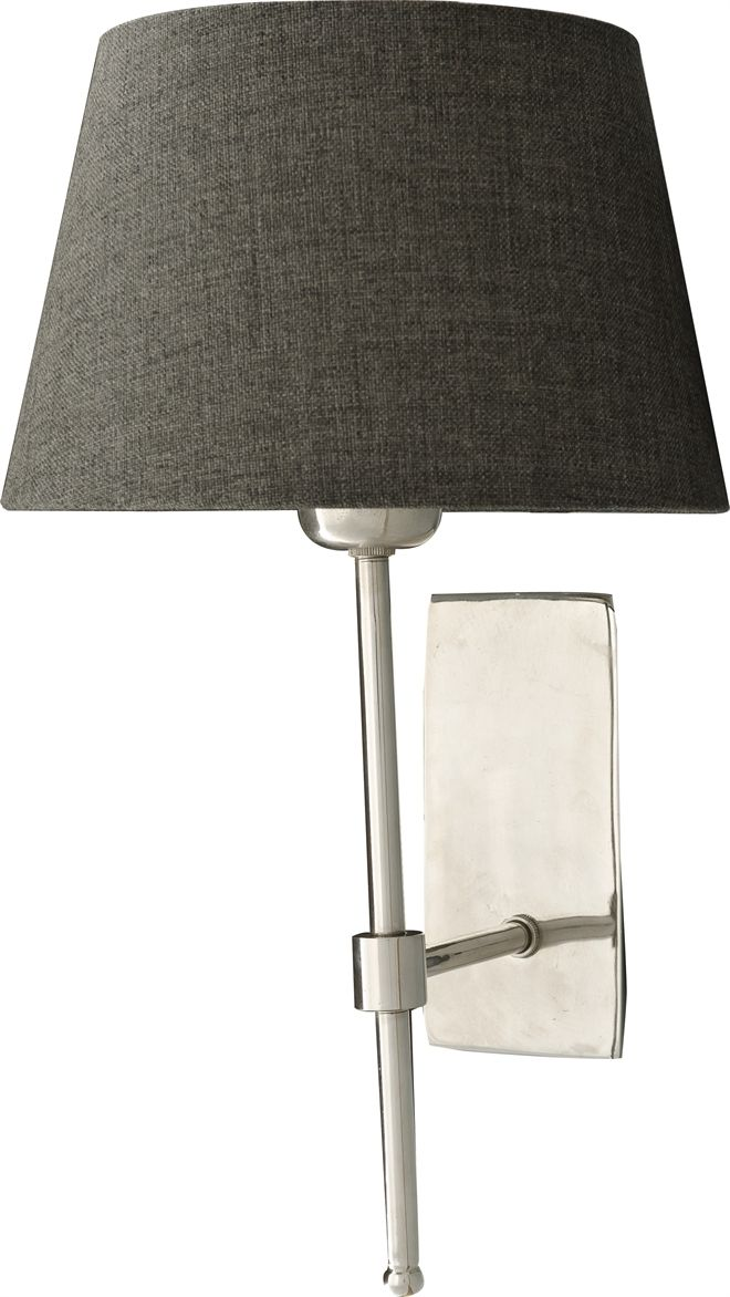 """Neptune Accessories Wall Lights - Hanover Nickel Wall Lamp - With 7.5"""" Henry Shade - Slate"""