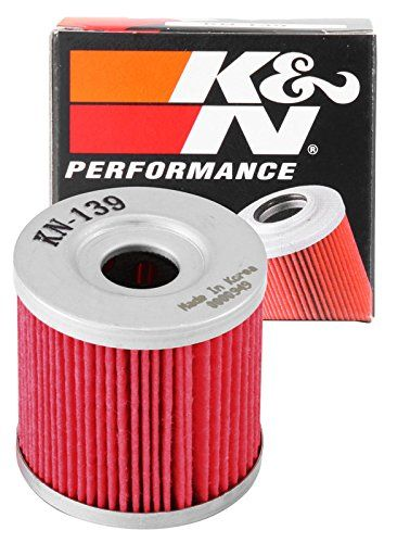 K&N KN-139 Powersports High Performance Oil Filter - K&N Powersports Cartridge Oil Filters are designed to satisfy the needs of racers and engine builders as well as the average motorcycle or ATV owner who wants the best oil filter available. K&N Powersports Oil Filters trap harmful contaminants while the filter's construction allows for high oil f...