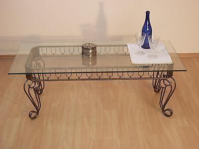 Couchtisch-Antik-mit-Glasplatte-Glastisch-Wohnzimmertisch-Tisch