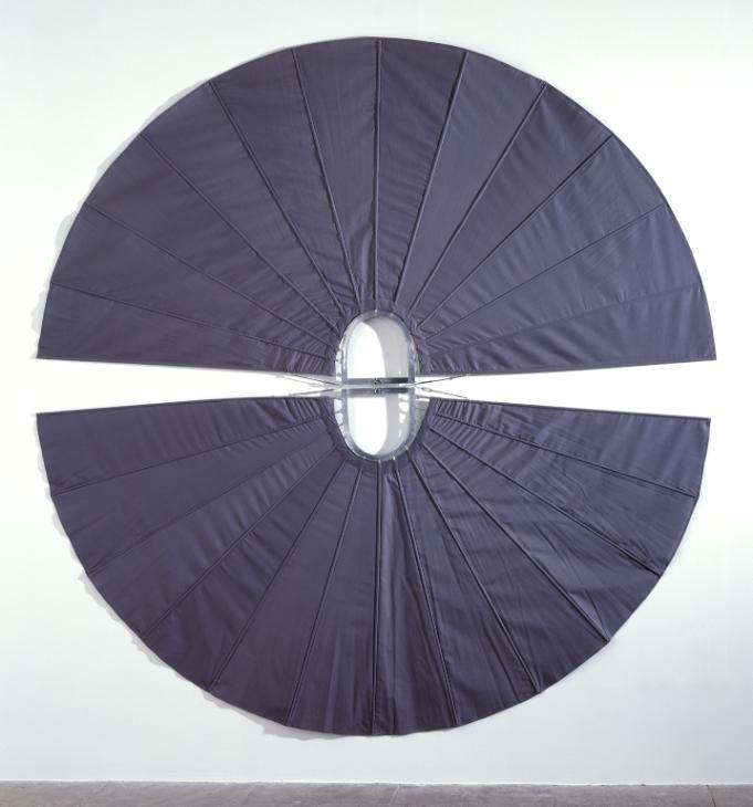 Mechanical Body Fan, Rebecca Horn, 1973-4, Fabric and metal