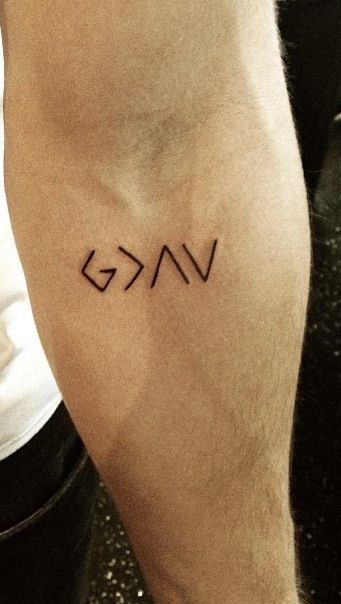 God is greater than the highs and lows :) #tattoos