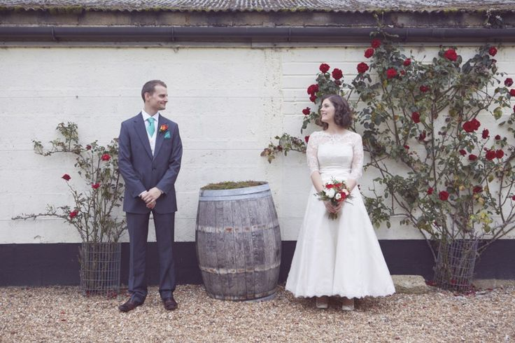 coral & teal bridal party - fun quirky alternative rustic country wedding - alternative photography ideas - Chapel Down vineyard wedding tenterden kent - Natalie J Weddings alternative and creative London wedding photographer