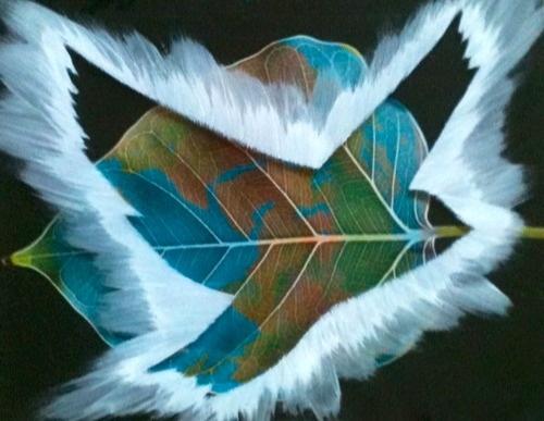 Happy Earth Day Miaaw.com - PeaceBomb  #art #artist #earthday #earth #inspiration #green #leaf #dove