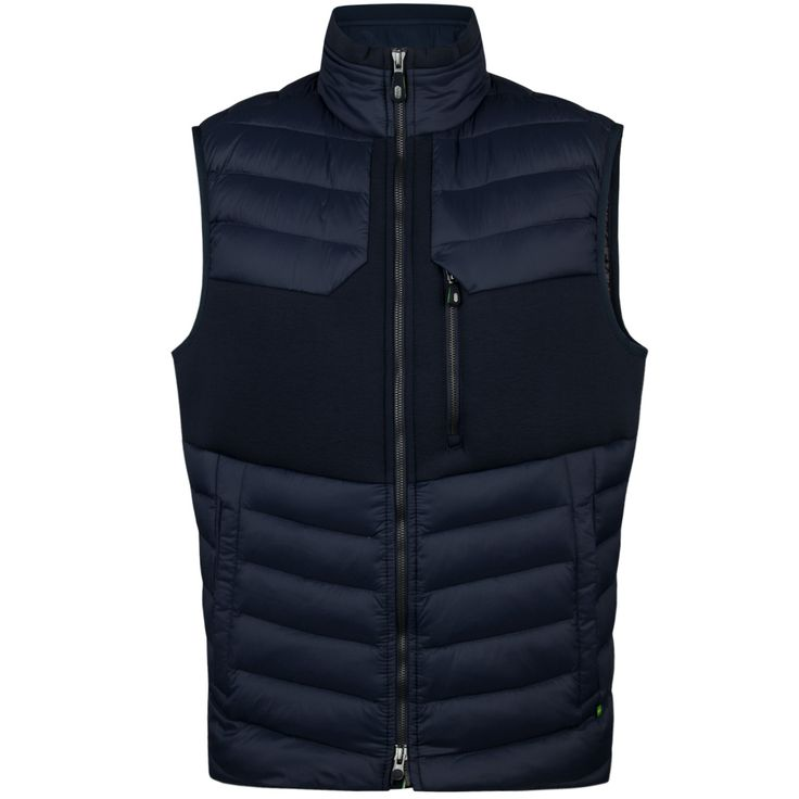 A sporty down filled vest perfect for layering both on and off the golf course. Part of the Hugo Boss Green Collection, it embraces the importance of...