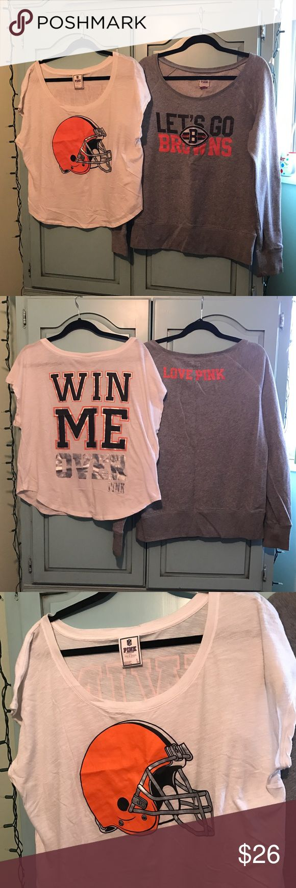 Browns Brown NFL gear by Pink. Get your team spirit on!! PINK Victoria's Secret Tops Sweatshirts & Hoodies